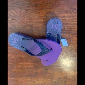 Flip flops Ombre hooded Glitter wedge